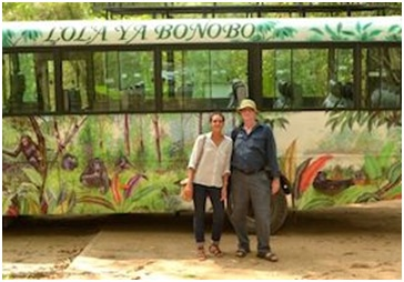 Lola ya Bonobo's Fanny Minesi, pictured with Dr. Dan Stiles of PEGAS.