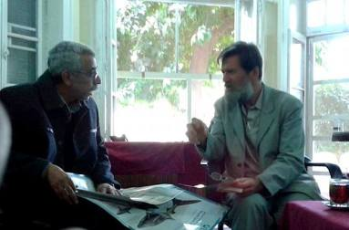 Ian Redmond, on right, in discussions with Dr. Ragy Toma of CITES-Egypt