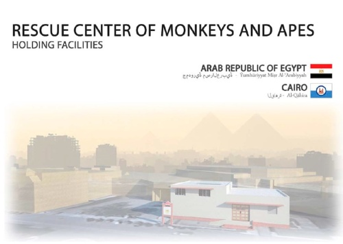 Architectural plans for a great ape and monkey rescue center in Egypt prepared by the Jane Goodall Instutute