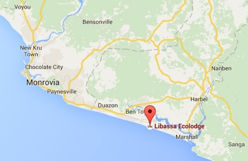 The location of Libassa Ecolodge and the Libassa sanctuary